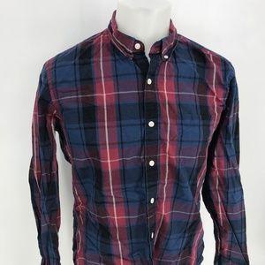 J Crew Button Down Slim Shirt Sz L Long Sleeve Y24